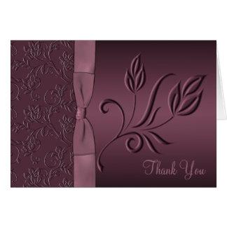Carte de remerciements pourpre de passion