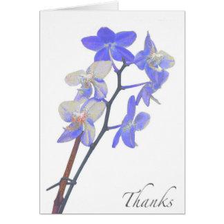 Carte de remerciements pourpre vide d'orchidée