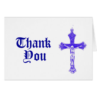Carte de remerciements religieux