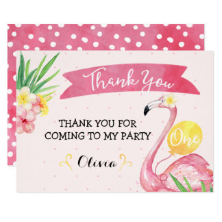 Carte de remerciements rose d'anniversaire de carton d'invitation  11,43 cm x 15,87 cm