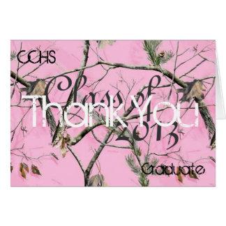 Carte de remerciements rose de Camo