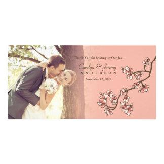 Carte de remerciements rose de mariage de Sakura Cartes Avec Photo
