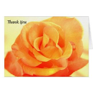 Carte de remerciements rose de mariage d'orange