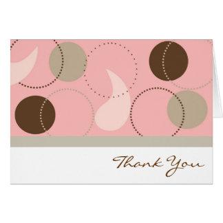 Carte de remerciements rose de Paisley