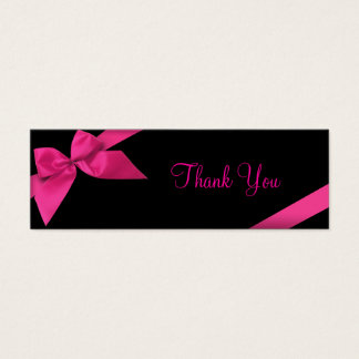 Carte de remerciements rose de ruban