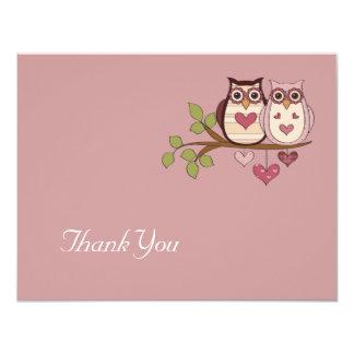 Carte de remerciements rose de Sweethoots Invitation Personnalisée
