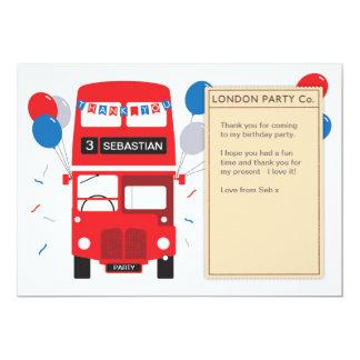 Carte de remerciements rouge d'anniversaire