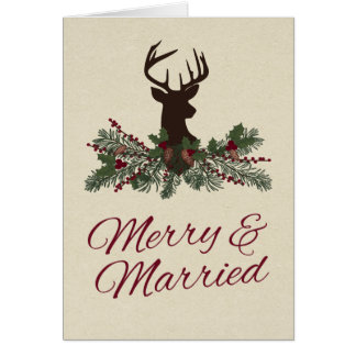 Carte de remerciements rustique de mariage de pin