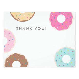 Carte de remerciements simple de beignet