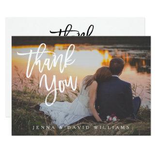 Carte de remerciements simple de photo carton d'invitation  12,7 cm x 17,78 cm