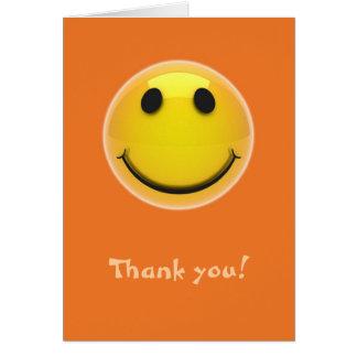 Carte de remerciements - smiley de sourire sur