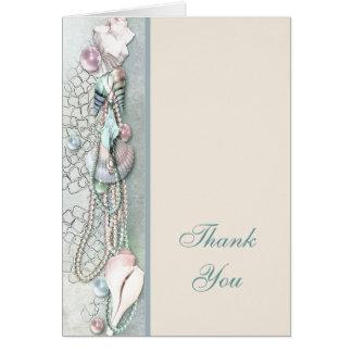 Carte de remerciements tropical de plage de perles