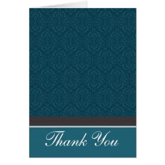 Carte de remerciements turquoise vintage à la mode
