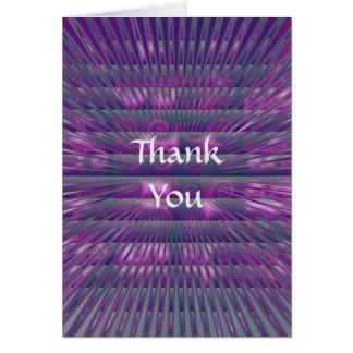 Carte de remerciements vertical pourpre de Spikey