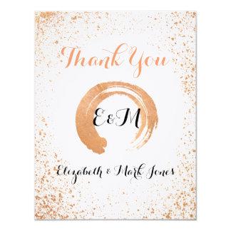 Carte de remerciements vif de cuivre de collection carton d'invitation 10,79 cm x 13,97 cm