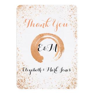 Carte de remerciements vif de cuivre de collection carton d'invitation  11,43 cm x 15,87 cm
