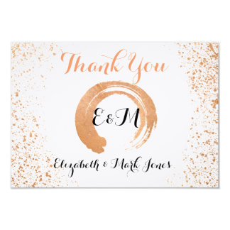 Carte de remerciements vif de cuivre de collection carton d'invitation 8,89 cm x 12,70 cm