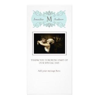 Carte de remerciements vintage de photo de mariage modèle pour photocarte