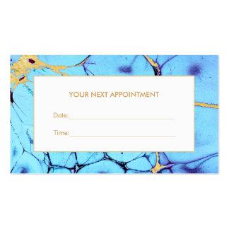 Carte de rendez-vous de salon d'aquarelle d'or de carte de visite standard