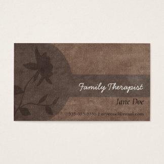 Carte de rendez-vous de thérapeute de famille