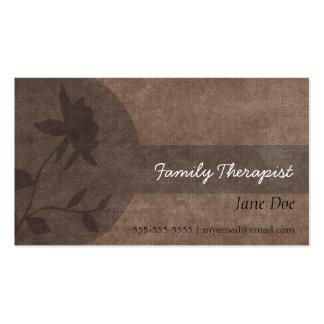 Carte de rendez-vous de thérapeute de famille carte de visite standard