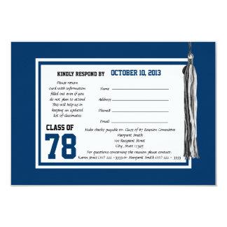 Carte de réponse de la Réunion de classe Carton D'invitation 8,89 Cm X 12,70 Cm