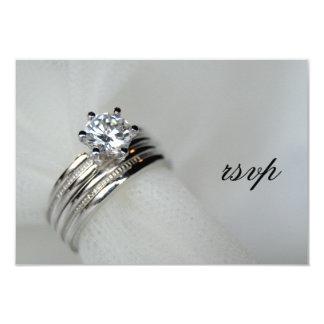 Carte de réponse des anneaux de mariage RSVP