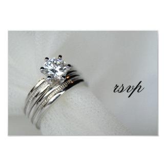 Carte de réponse des anneaux de mariage RSVP Carton D'invitation 8,89 Cm X 12,70 Cm