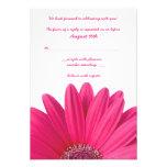 Carte- de réponse rose de mariage de Gerbera Invitations