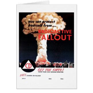 "Carte ""de retombées radioactives radioactives"""
