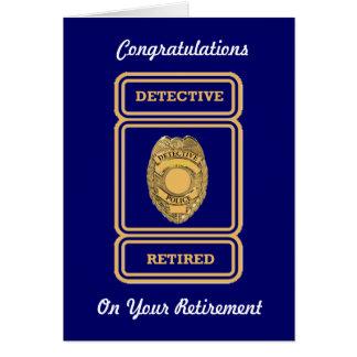Carte de retraite de détective de police