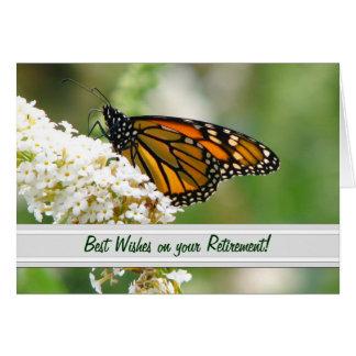 Carte de retraite de papillon de monarque par