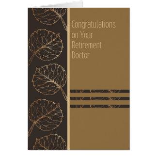 Carte de retraite pour un docteur