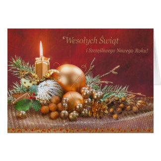 Carte de rétro Noël polonais et de nouvelle année