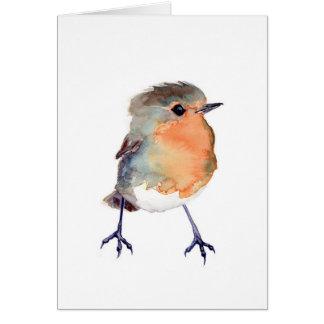 Carte de Robin d'aquarelle