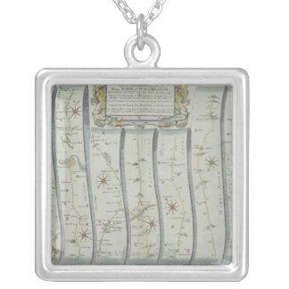 Carte de route antique collier