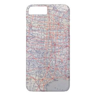 Carte de route Etats-Unis Coque iPhone 7 Plus