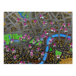 Carte de route métropolitaine de Londres