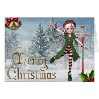 Carte de Sadie Elf de Joyeux Noël