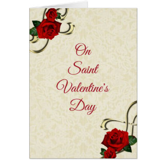 Carte de Saint-Valentin avec les roses rouges