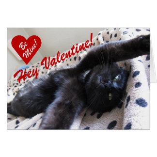Carte de Saint-Valentin comportant un chat mignon