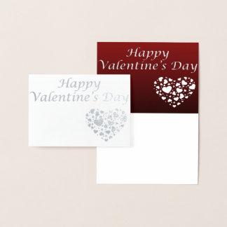 Carte de Saint-Valentin d'aluminium argenté