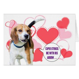 Carte de Saint-Valentin de beagle