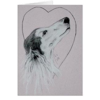Carte de Saint-Valentin de chien de Saluki