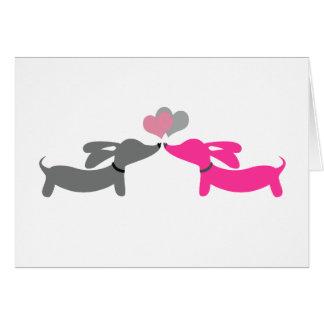 Carte de Saint-Valentin de chien de saucisse de