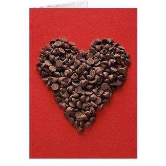 Carte de Saint-Valentin de coeur de chocolat