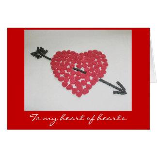 Carte de Saint-Valentin de coeur de sucrerie