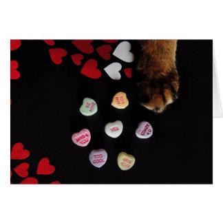 Carte de Saint-Valentin de coeurs de sucrerie de