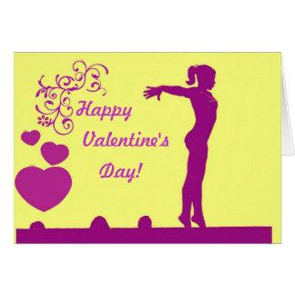 Carte de Saint-Valentin de gymnaste
