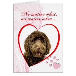 Carte de Saint-Valentin de Labradoodle